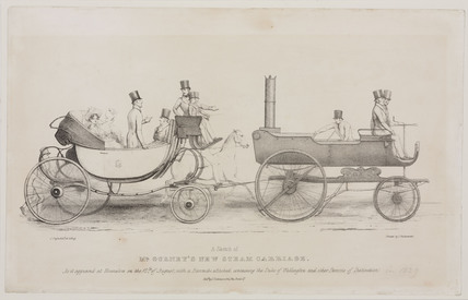 'Mr Gurney's New Steam Carriage', 1829.