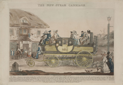 'The New Steam Carriage', 1827.