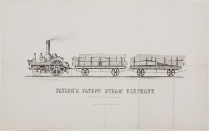 'Taylor's Patent Steam Elephant', c 1860.