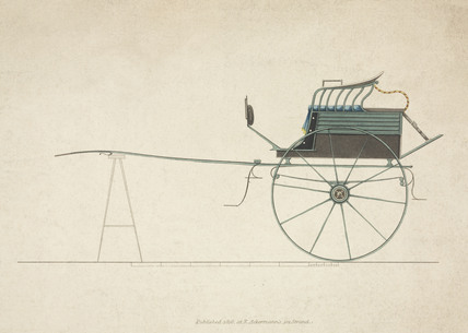 High two-wheeled dog cart, 1816.
