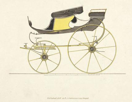 High flyer phaeton carriage, 1816.