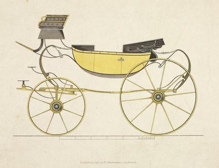 High perch sociable barouche carriage, 1816.