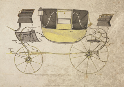 Landau carriage, 1816.