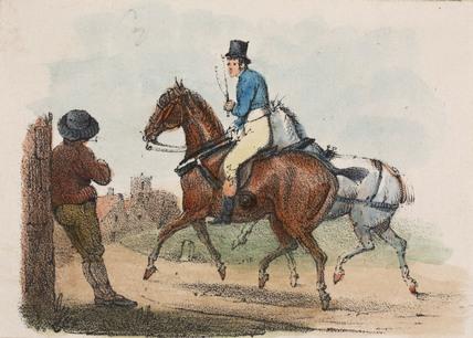 Horse rider, early 19th century.