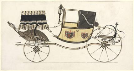 Dress landaulet carriage, c 1870.