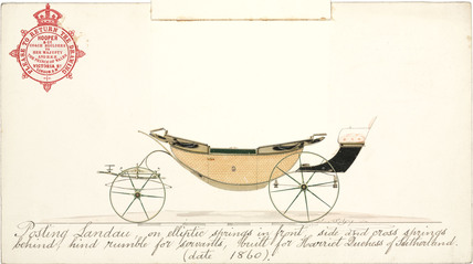 Duchess of Sutherland's posting landau, 1860.