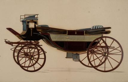 Horse landau, 19th century.