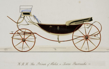 Design for a carriage, 1841-1900.