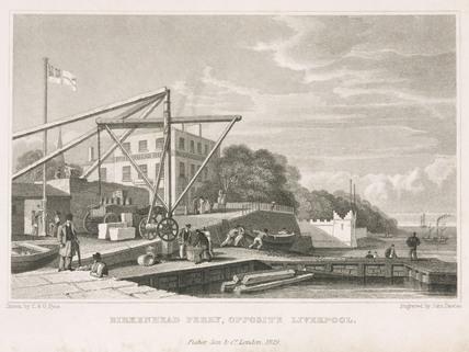 'Birkenhead Ferry, Opposite Liverpool', Merseyside, England, 1829.