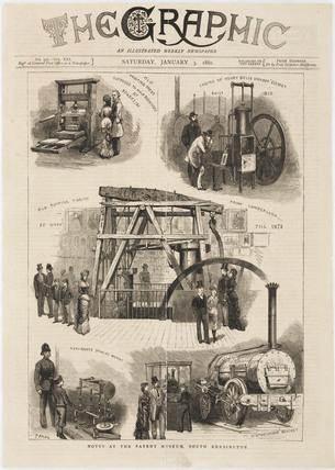 The Patent Museum, South Kensington, London, 1880.