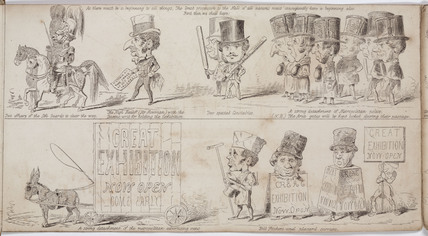 A comic predicition of the procession to the Great Exhibition of 1851, 1850.