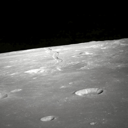 View of Rima Ariadaeus on the Moon, 1 May 1969 .