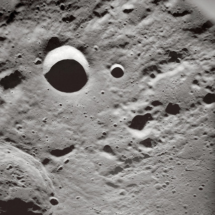 'Long  shadows on the lunar surface', 1 May 1969.