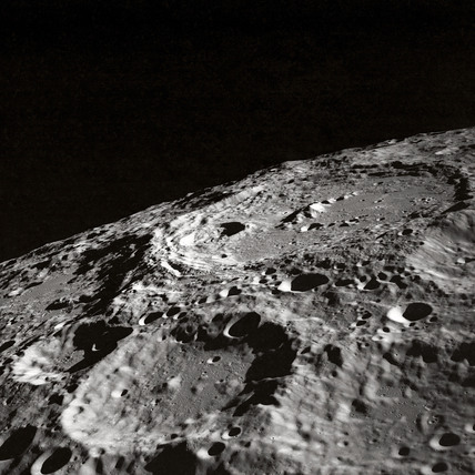 'Terraced wall crater on the lunar limb', 1 May 1969
