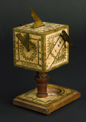 Universal cubical sundial, German, c 1780.
