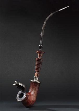 Meerschaum tobacco pipe, Bavarian, 1790-1840.