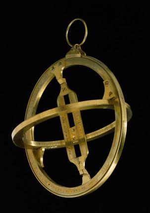Universal equinoctial ring sundial, London, c 1800.