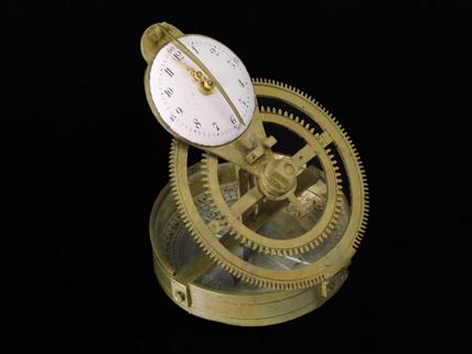 Mechanical equinoctial sundial, French, c 1800.