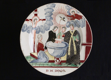 Creamware plate, late 18th century.