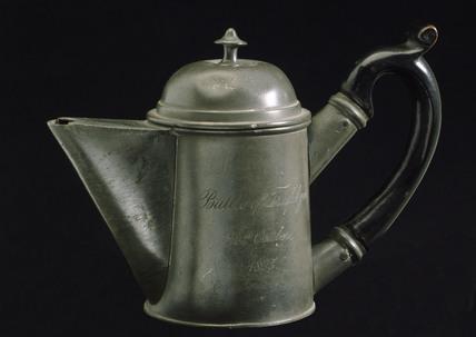 Pewter teapot, c 1805.
