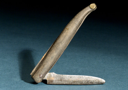 Razor (or small folding knife), English, 1701-1850.