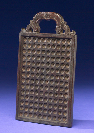 Wooden counting board, European, 1701-1800.
