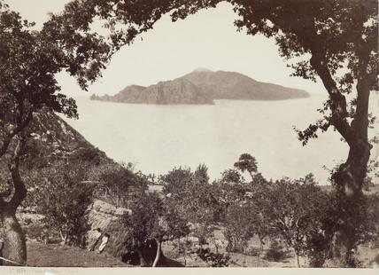 The island of Capri from Massa, Italy, c 1850-1900.