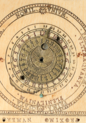 Ivory diptych sundial, 1589.