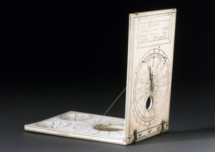 Ivory diptych sundial, 1589.