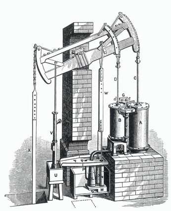 Jonathan Hornblower's compound Engine, 1781.