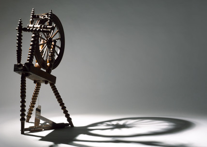 Spinning Wheel, c 18th century.