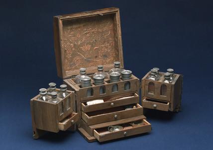 Medicine chest, German, 18th century.