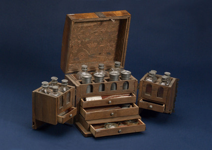 Medicine chest, German, 18th century.