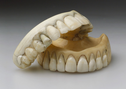 Two full upper dentures, c 1830.