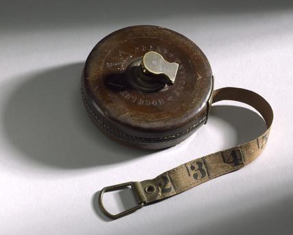 33 foot measuring tape, c 1850.