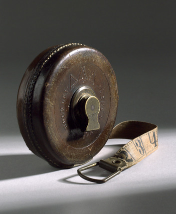 33 foot measuring tape, c 1850.