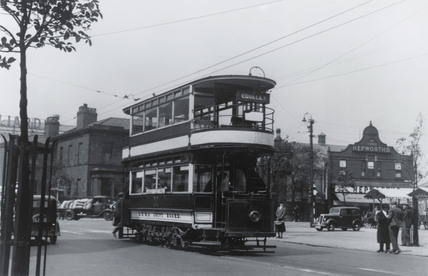 Edgeley double deck electric tram.