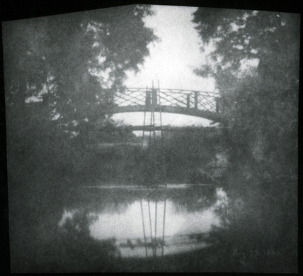 'Bridge with Ladders' by Talbot, 1840.