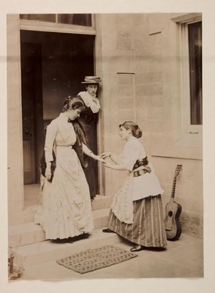 Fortune teller, c 1895.