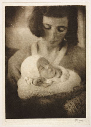 Portrait of a woman and baby, 1921.