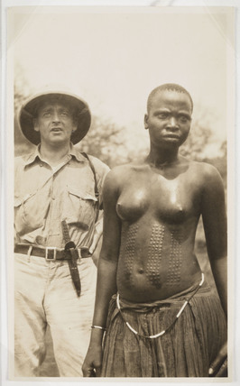 European man and African woman, c 1925.