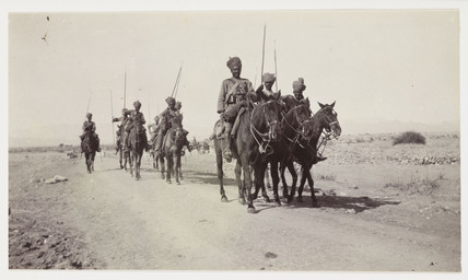 Troop of Indian lancers, c 1905
