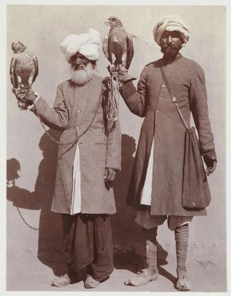 Indian falconers, c 1912.