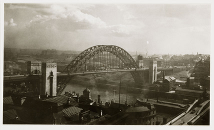 Tyne Bridge, Newcastle, c 1935.