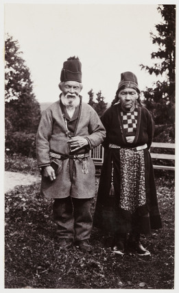 Lapp couple, Finland, c 1930.