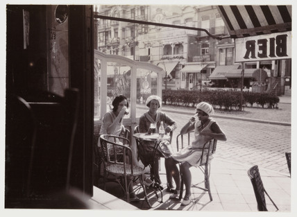 Women in a cafe, c 1930.