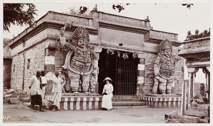 Hindu temple, India, c 1910.