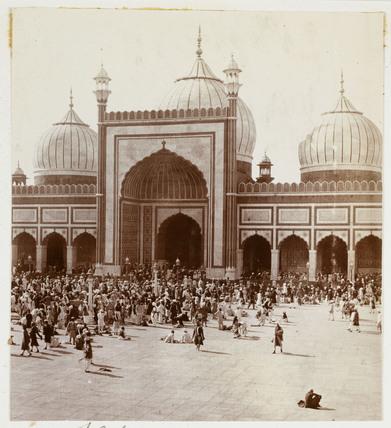 Jama Masjid mosque, Delhi, c 1915.