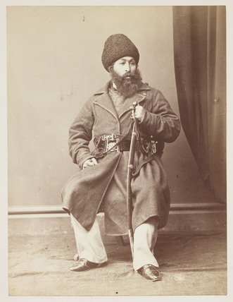 'His Highness Shere Ali Khan, Amir of Afghanistan', c 1878.