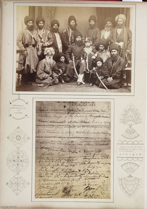 'Amir Shere Ali, Prince of Abdulah Jan, and Sirdars', c 1878.